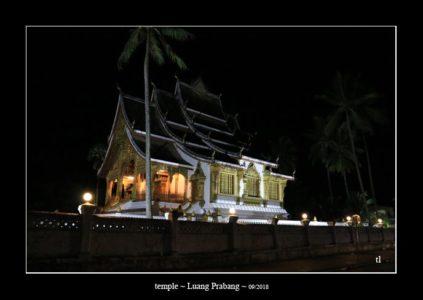 temple la nuit à Luang Prabang - l'autre ailleurs au Laos, une autre idée du voyage