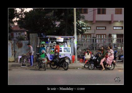 le soir à Mandalay au Myanmar (Birmanie) - thierry llopis photographies (www.thierryllopis.fr)